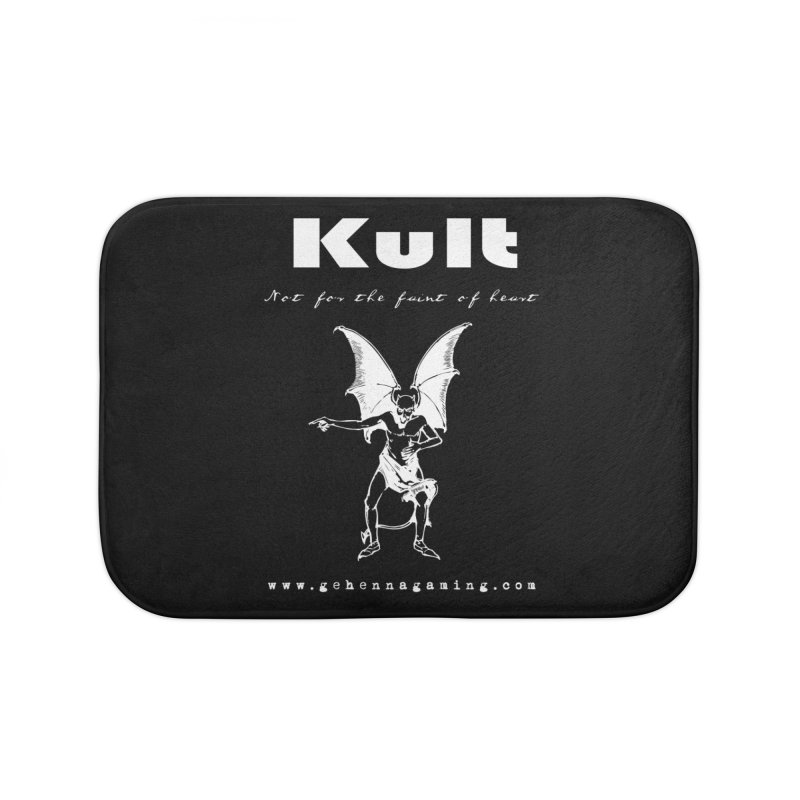Kult: Not for the weak of heart (Goth Edition) Home Bath Mat by The Gehenna Gaming Shop