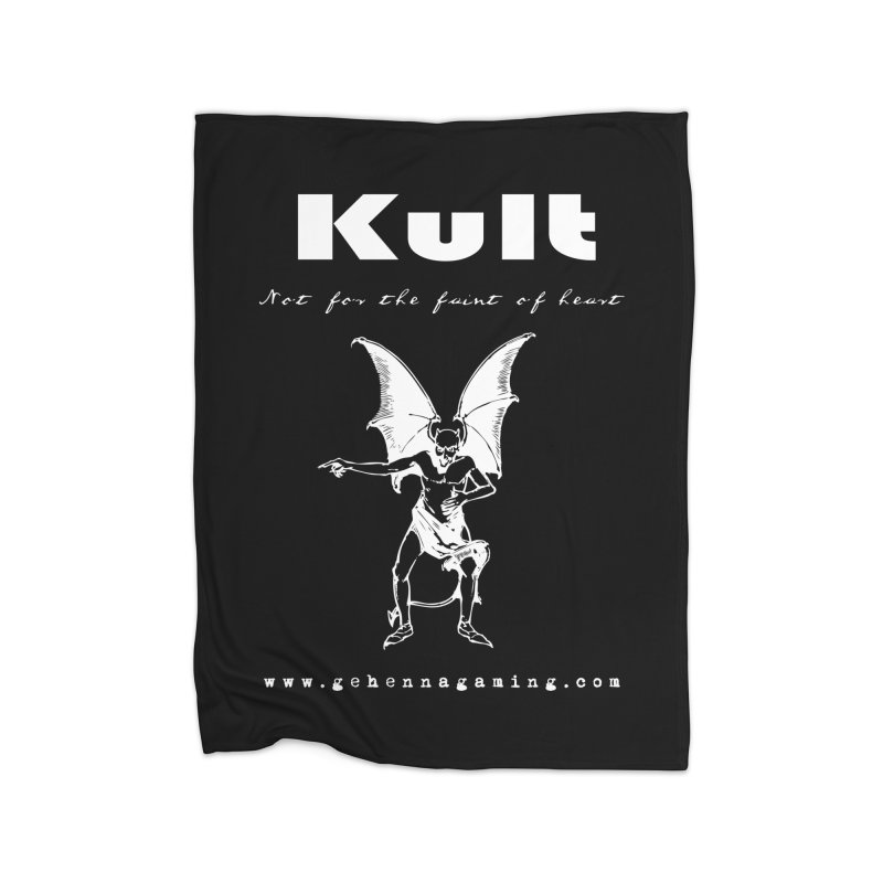 Kult: Not for the weak of heart (Goth Edition) Home Fleece Blanket Blanket by The Gehenna Gaming Shop