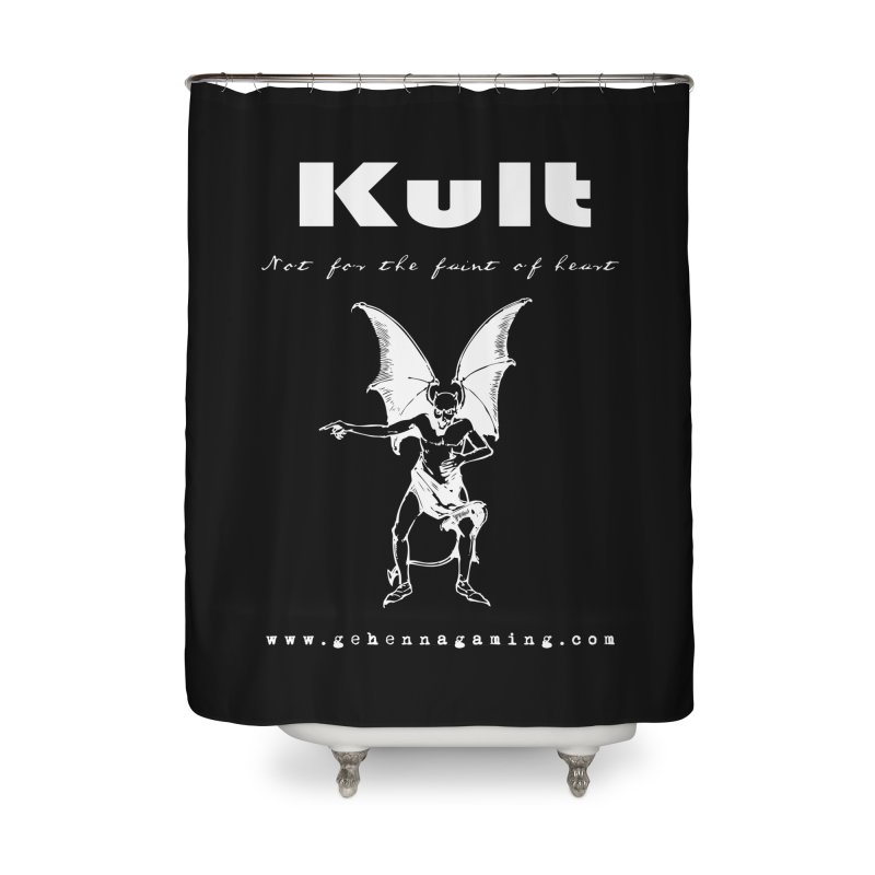 Kult: Not for the weak of heart (Goth Edition) Home Shower Curtain by The Gehenna Gaming Shop