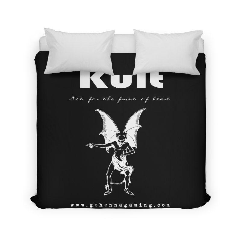 Kult: Not for the weak of heart (Goth Edition) Home Duvet by The Gehenna Gaming Shop