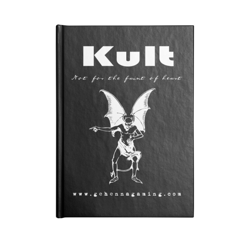 Kult: Not for the weak of heart (Goth Edition) Accessories Lined Journal Notebook by The Gehenna Gaming Shop