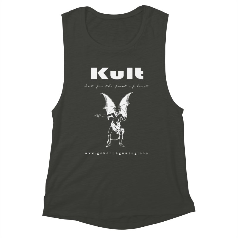 Kult: Not for the weak of heart (Goth Edition) Women's Muscle Tank by The Gehenna Gaming Shop