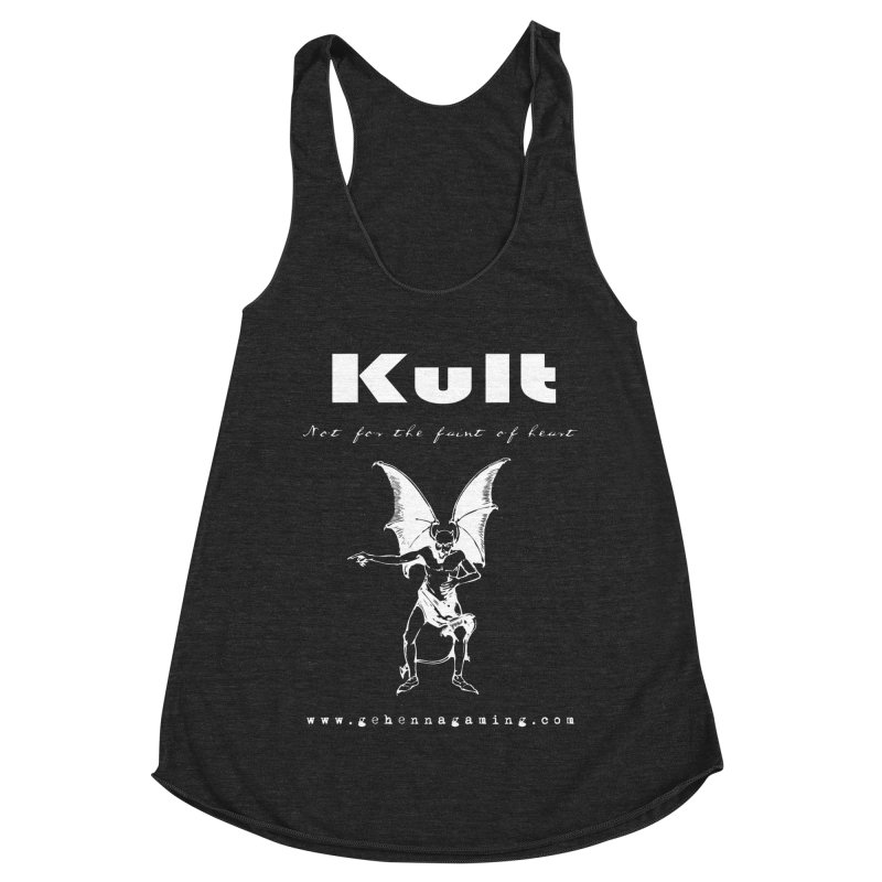 Kult: Not for the weak of heart (Goth Edition) Women's Racerback Triblend Tank by The Gehenna Gaming Shop