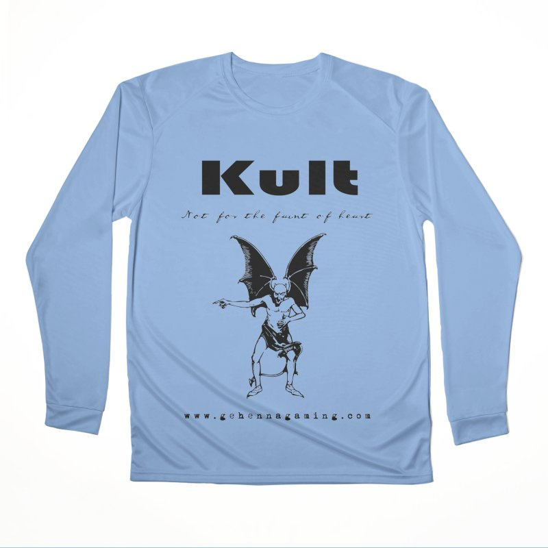 Kult: Not for the faint of heart (Black Edition) Men's Performance Longsleeve T-Shirt by The Gehenna Gaming Shop