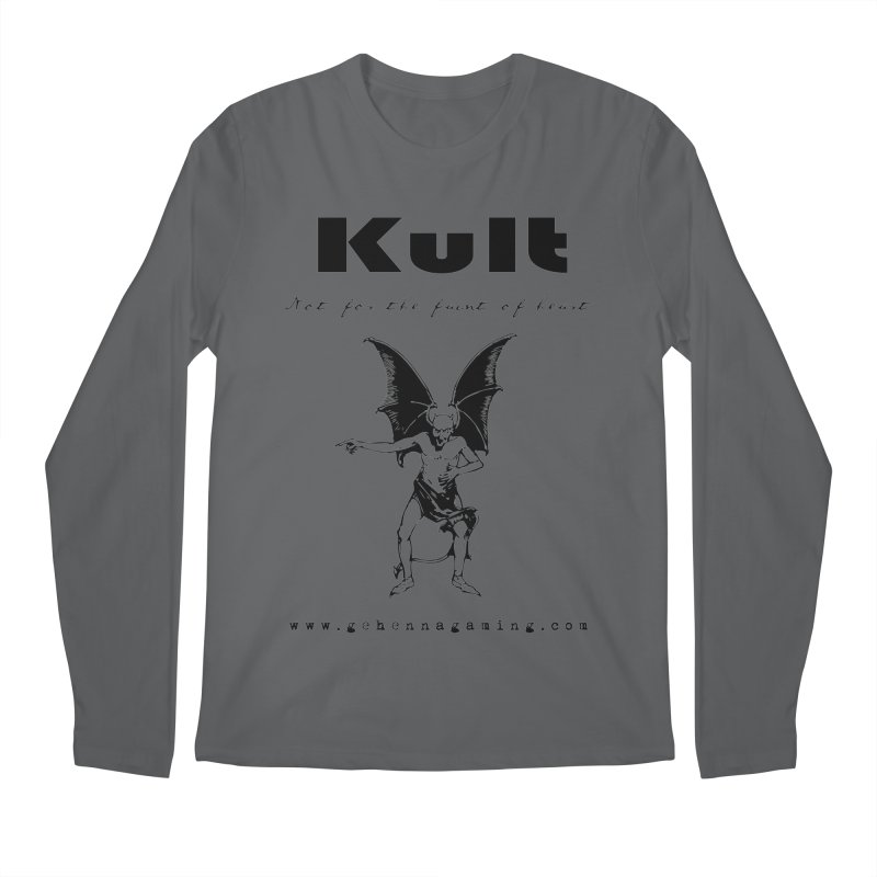 Kult: Not for the faint of heart (Black Edition) Men's Longsleeve T-Shirt by The Gehenna Gaming Shop