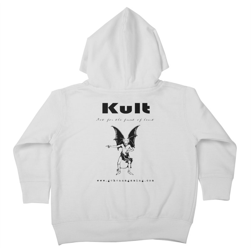 Kult: Not for the faint of heart (Black Edition) Kids Toddler Zip-Up Hoody by The Gehenna Gaming Shop