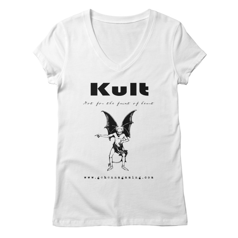 Kult: Not for the faint of heart (Black Edition) Women's Regular V-Neck by The Gehenna Gaming Shop