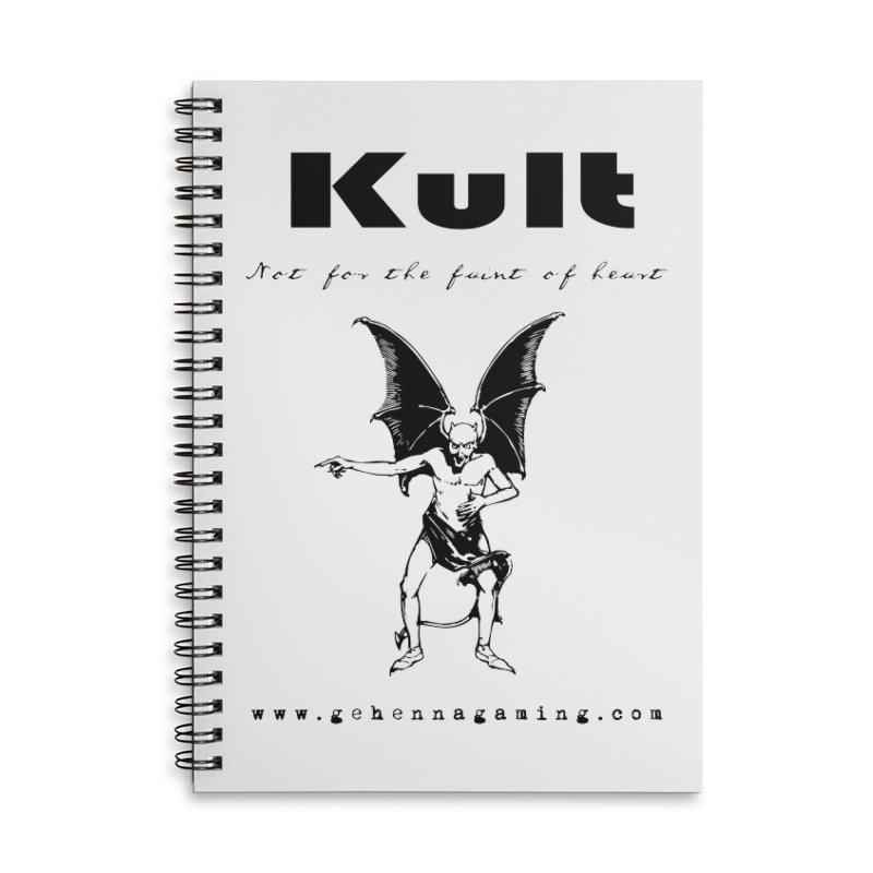 Kult: Not for the faint of heart (Black Edition) Accessories Lined Spiral Notebook by The Gehenna Gaming Shop