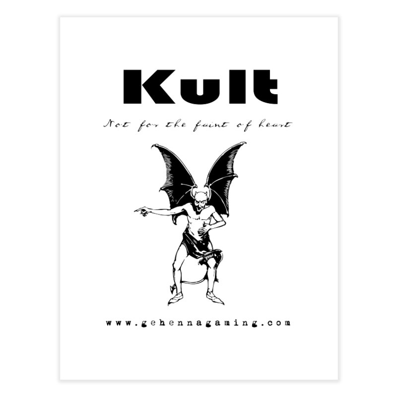 Kult: Not for the faint of heart (Black Edition) Home Fine Art Print by The Gehenna Gaming Shop