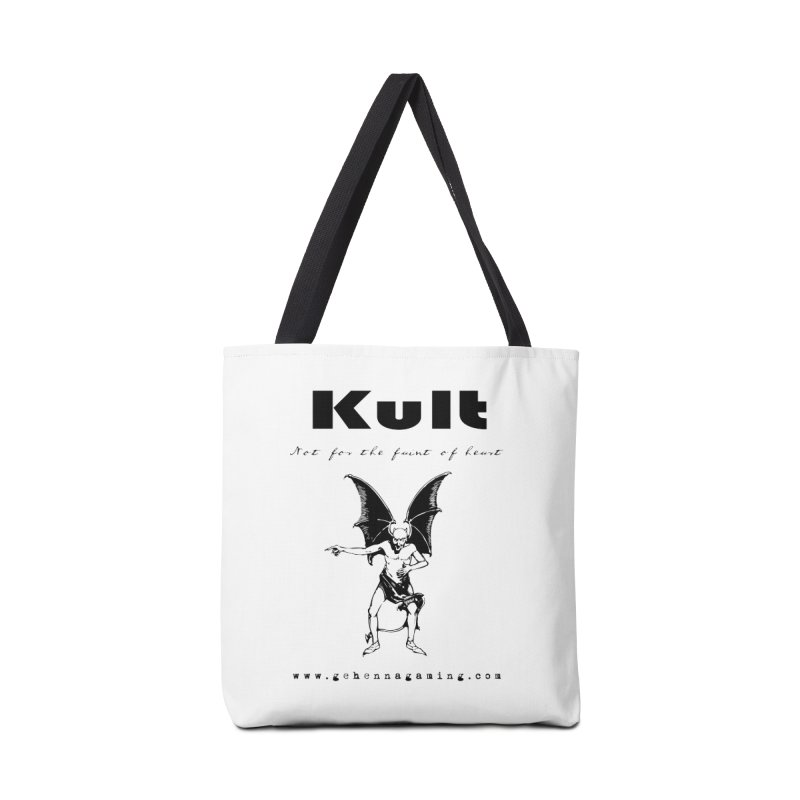 Kult: Not for the faint of heart (Black Edition) Accessories Tote Bag Bag by The Gehenna Gaming Shop