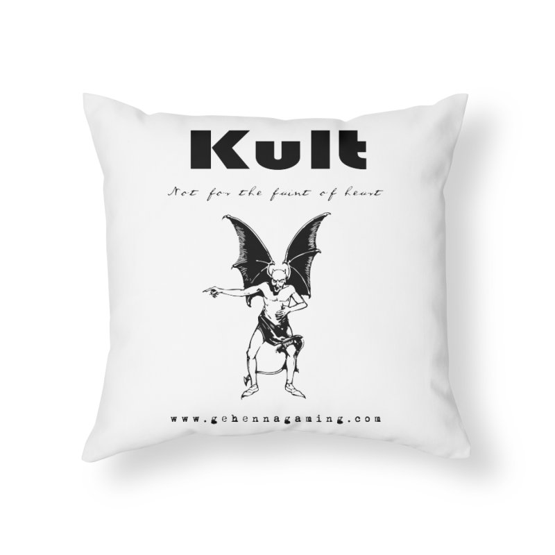 Kult: Not for the faint of heart (Black Edition) Home Throw Pillow by The Gehenna Gaming Shop