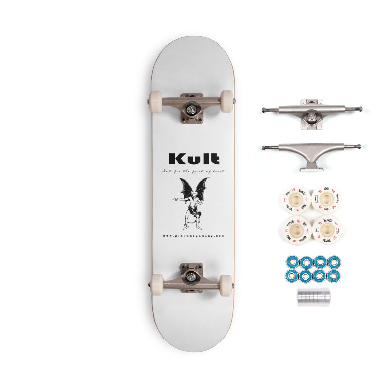 Kult: Not for the faint of heart (Black Edition) Accessories Complete - Premium Skateboard by The Gehenna Gaming Shop