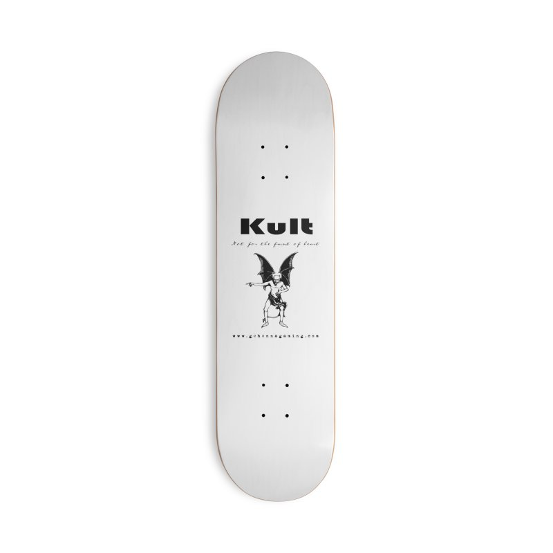 Kult: Not for the faint of heart (Black Edition) Accessories Deck Only Skateboard by The Gehenna Gaming Shop