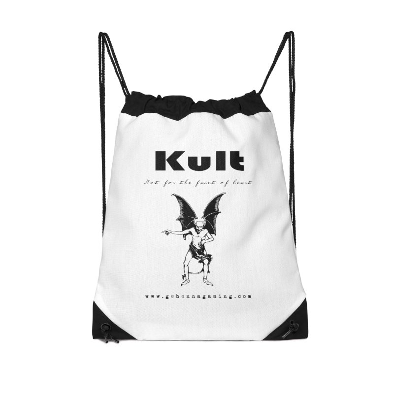 Kult: Not for the faint of heart (Black Edition) Accessories Drawstring Bag Bag by The Gehenna Gaming Shop