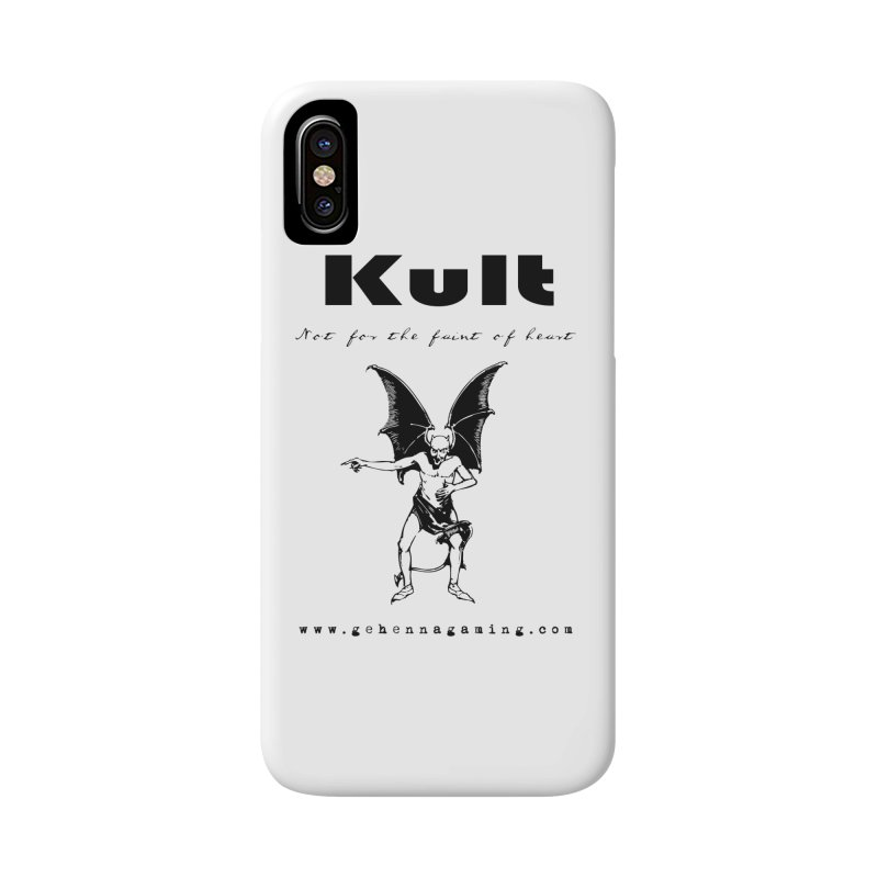 Kult: Not for the faint of heart (Black Edition) Accessories Phone Case by The Gehenna Gaming Shop