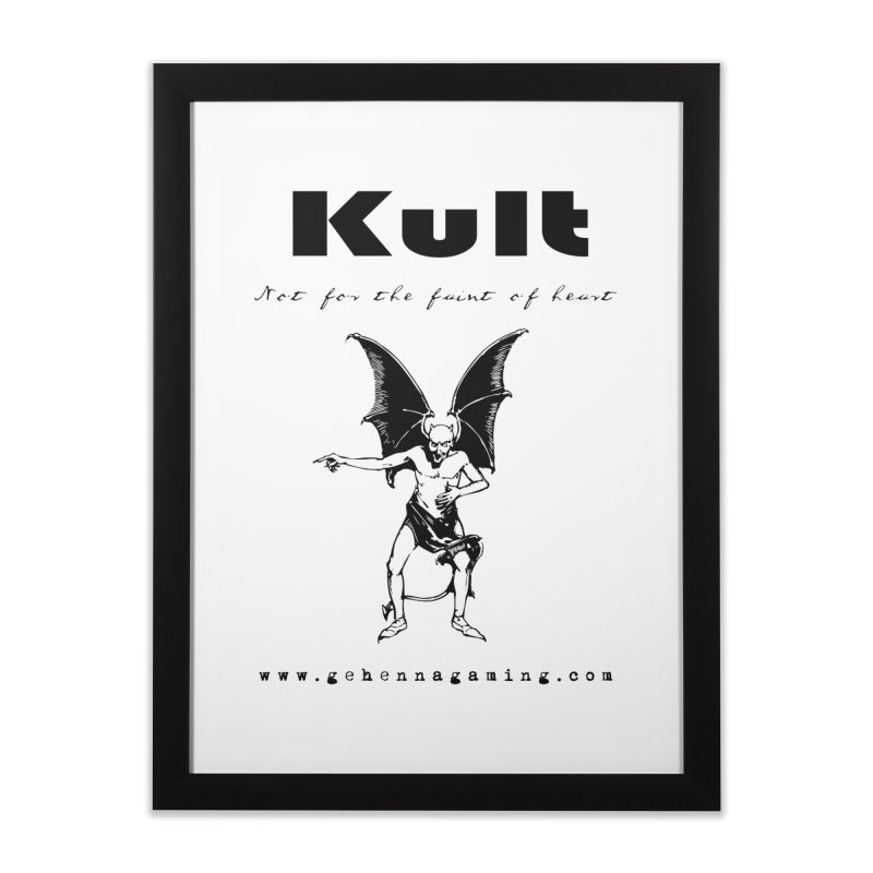 Kult: Not for the faint of heart (Black Edition) Home Framed Fine Art Print by The Gehenna Gaming Shop