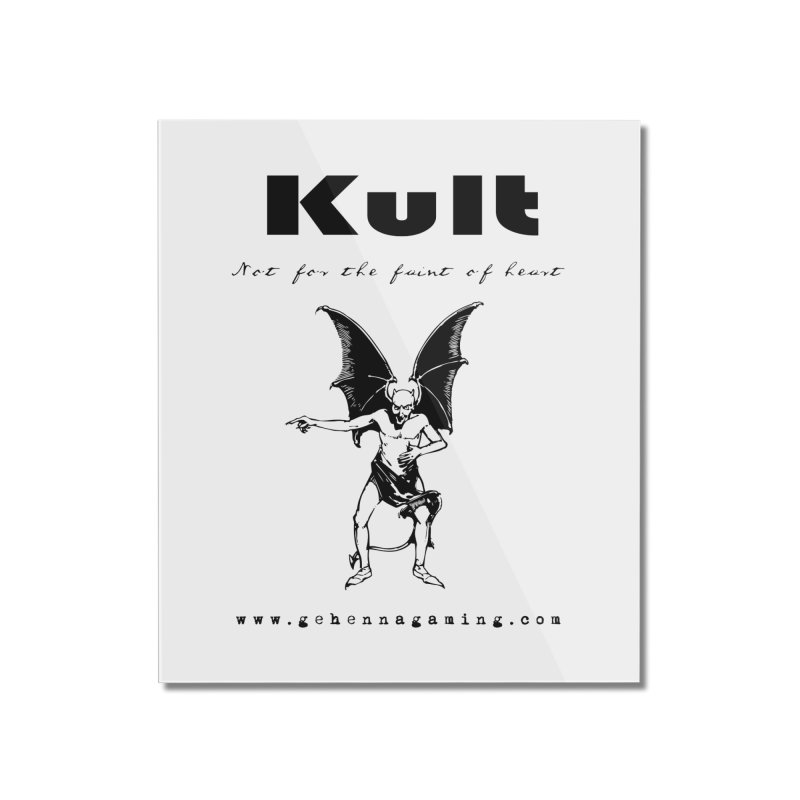 Kult: Not for the faint of heart (Black Edition) Home Mounted Acrylic Print by The Gehenna Gaming Shop