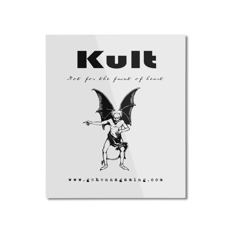 Kult: Not for the faint of heart (Black Edition) Home Mounted Aluminum Print by The Gehenna Gaming Shop