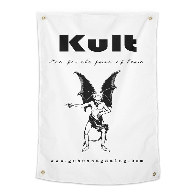 Kult: Not for the faint of heart (Black Edition) Home Tapestry by The Gehenna Gaming Shop