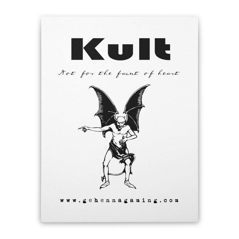 Kult: Not for the faint of heart (Black Edition) Home Stretched Canvas by The Gehenna Gaming Shop