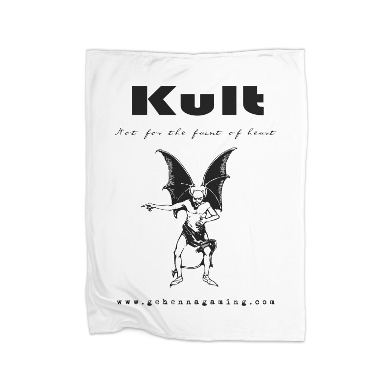 Kult: Not for the faint of heart (Black Edition) Home Fleece Blanket Blanket by The Gehenna Gaming Shop
