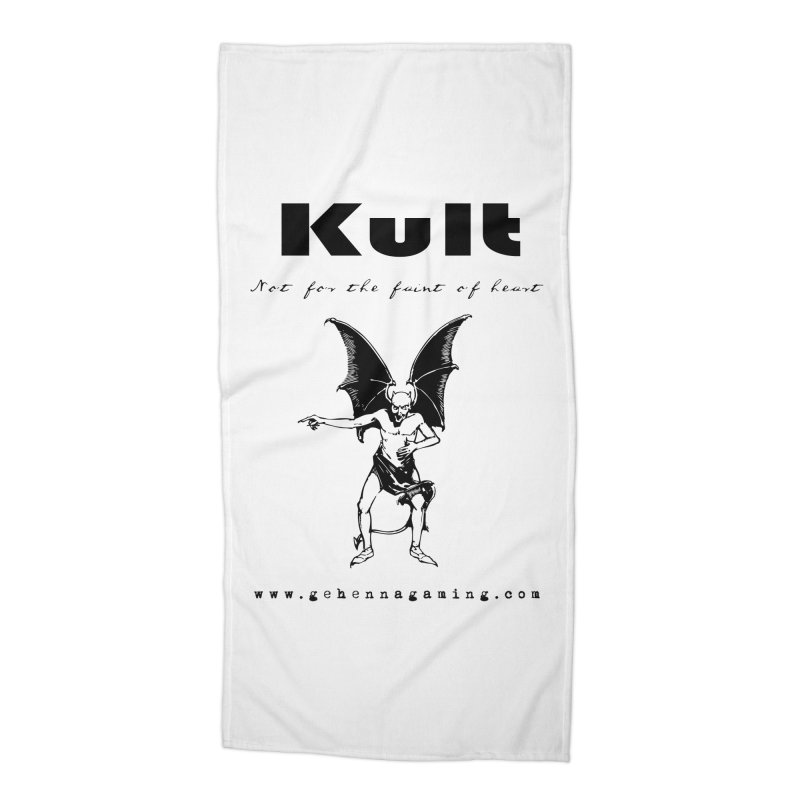 Kult: Not for the faint of heart (Black Edition) Accessories Beach Towel by The Gehenna Gaming Shop