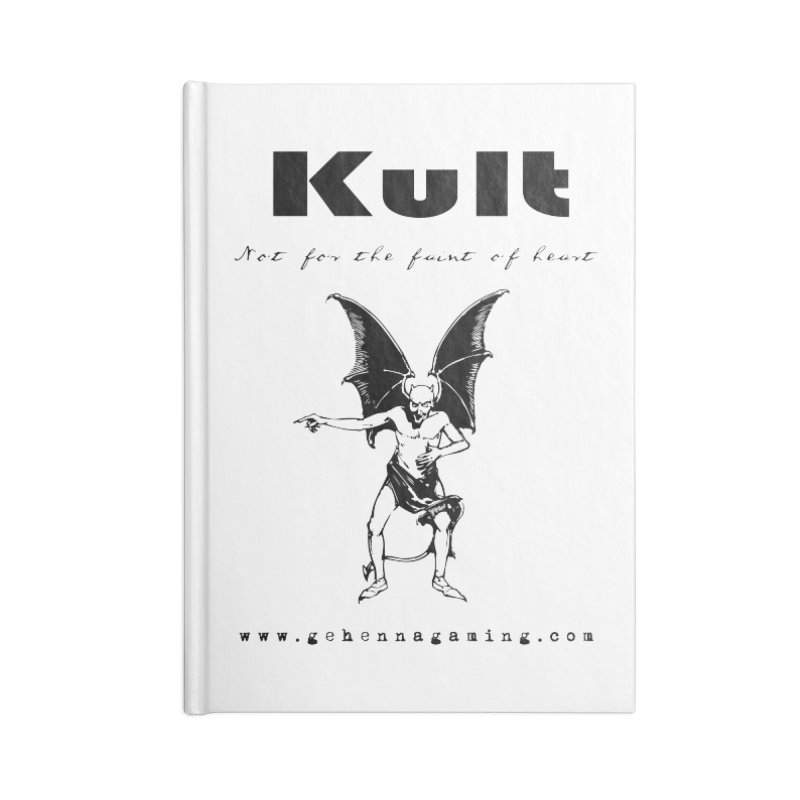 Kult: Not for the faint of heart (Black Edition) Accessories Blank Journal Notebook by The Gehenna Gaming Shop