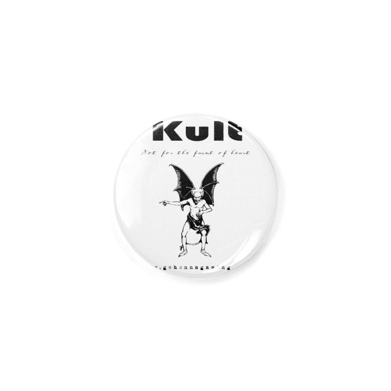 Kult: Not for the faint of heart (Black Edition) Accessories Button by The Gehenna Gaming Shop