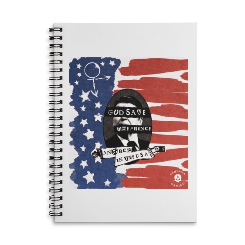 Anarch in the U.S.A. Accessories Lined Spiral Notebook by GehennaGaming's Artist Shop