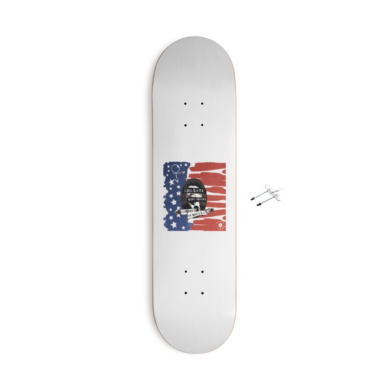 Anarch in the U.S.A. Accessories With Hanging Hardware Skateboard by The Gehenna Gaming Shop