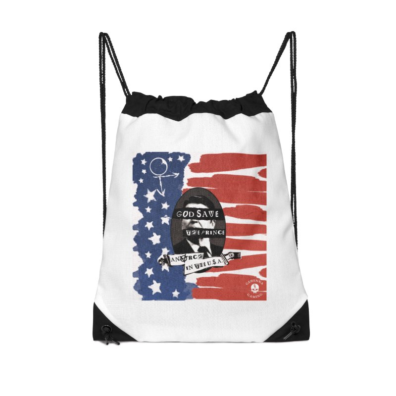 Anarch in the U.S.A. Accessories Drawstring Bag Bag by The Gehenna Gaming Shop