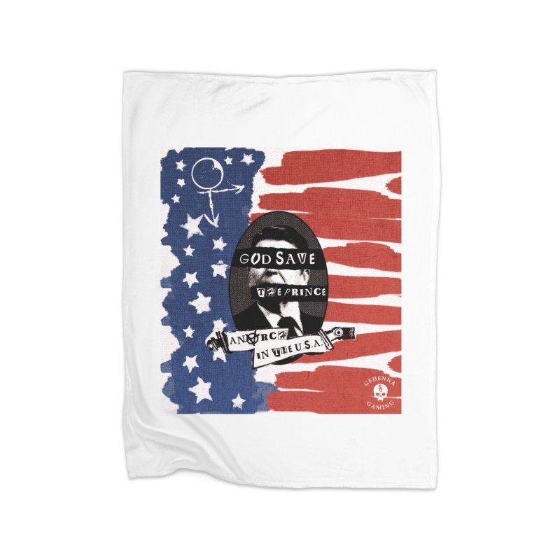 Anarch in the U.S.A. Home Fleece Blanket Blanket by GehennaGaming's Artist Shop