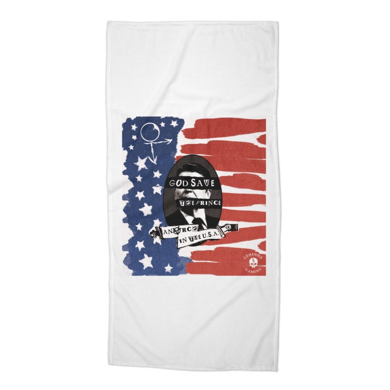 Anarch in the U.S.A. Accessories Beach Towel by GehennaGaming's Artist Shop