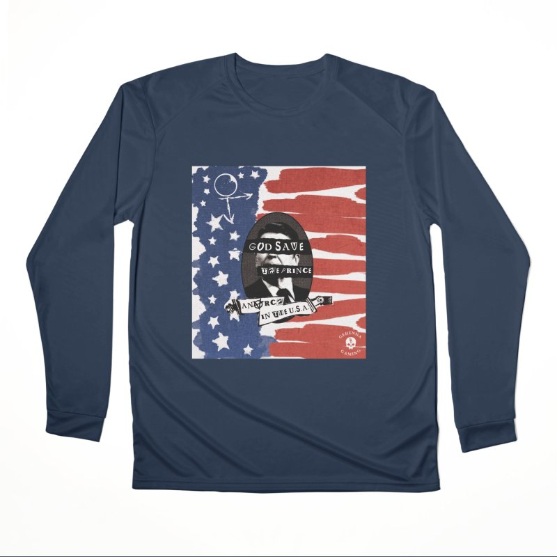 Anarch in the U.S.A. Men's Performance Longsleeve T-Shirt by The Gehenna Gaming Shop