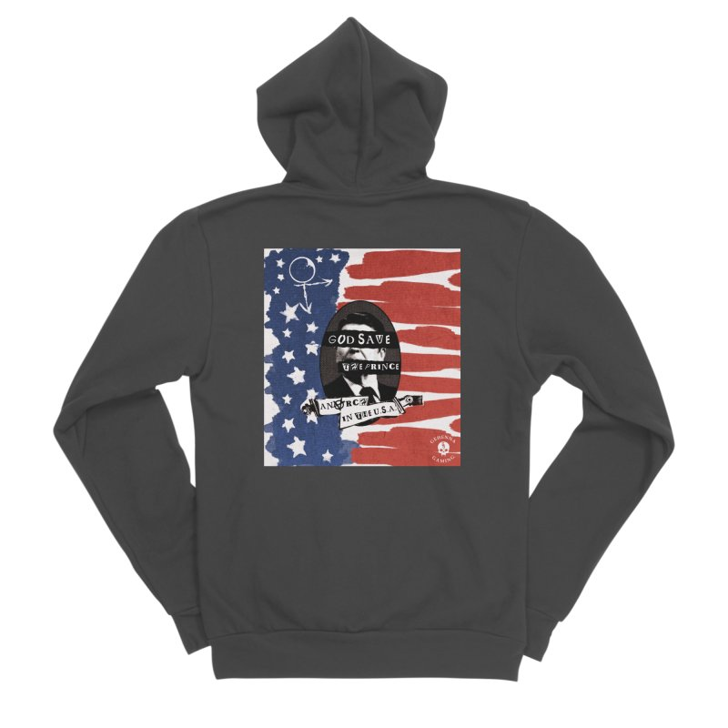 Anarch in the U.S.A. Men's Sponge Fleece Zip-Up Hoody by GehennaGaming's Artist Shop