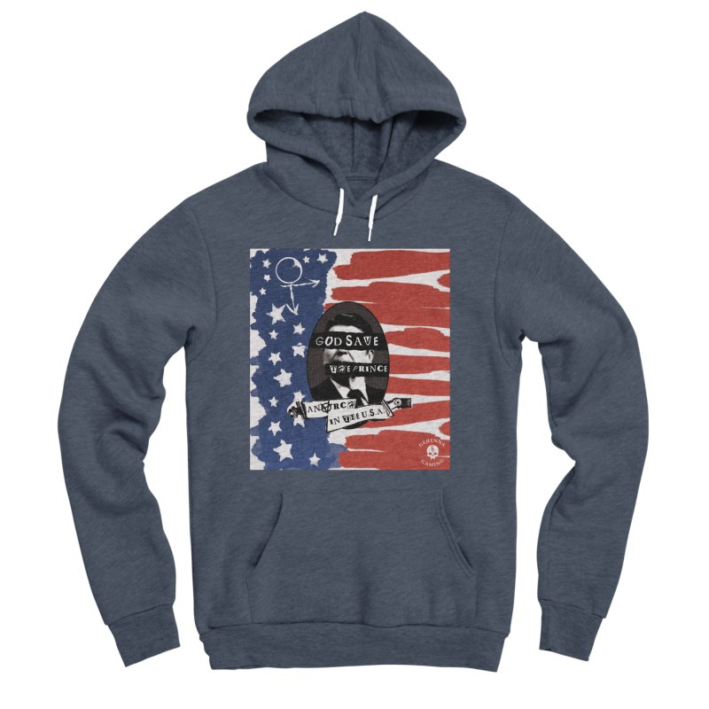 Anarch in the U.S.A. Men's Sponge Fleece Pullover Hoody by GehennaGaming's Artist Shop