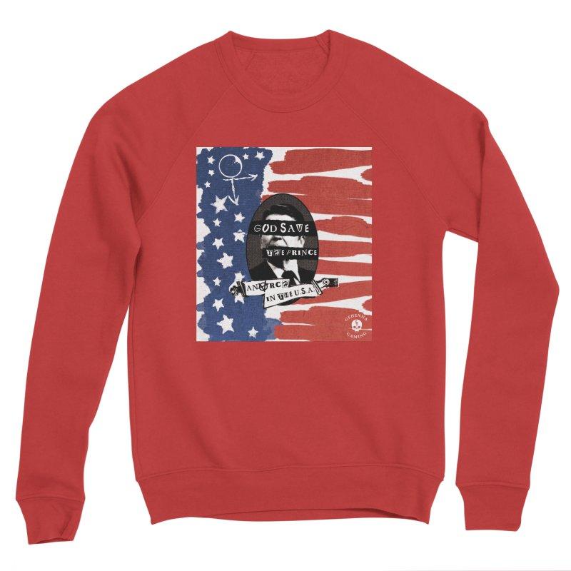 Anarch in the U.S.A. Men's Sponge Fleece Sweatshirt by GehennaGaming's Artist Shop