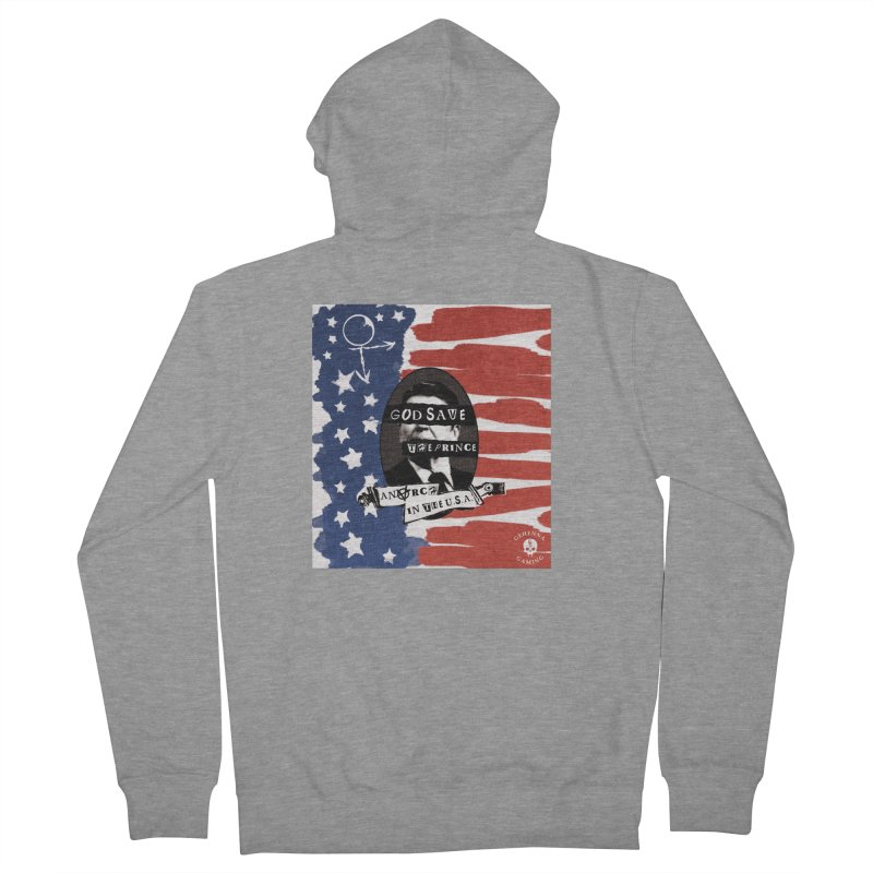 Anarch in the U.S.A. Women's French Terry Zip-Up Hoody by GehennaGaming's Artist Shop