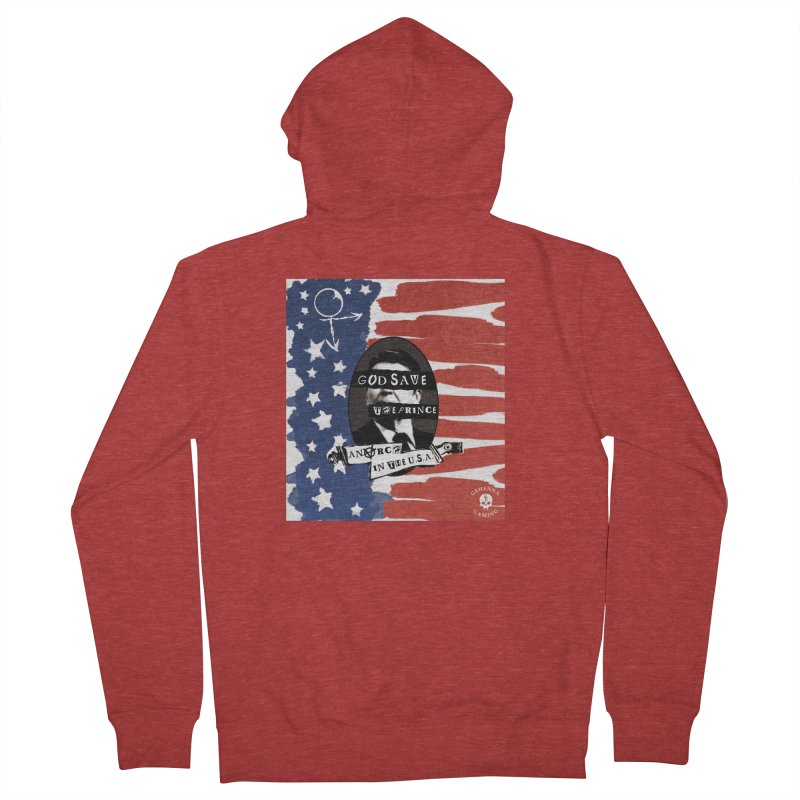 Anarch in the U.S.A. Women's French Terry Zip-Up Hoody by The Gehenna Gaming Shop