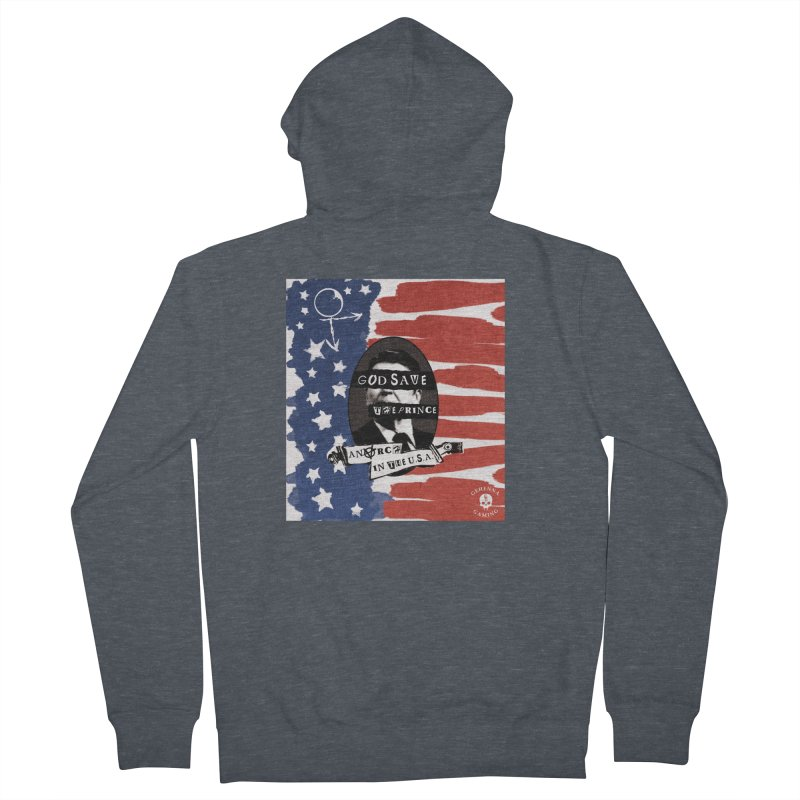 Anarch in the U.S.A. Men's French Terry Zip-Up Hoody by The Gehenna Gaming Shop