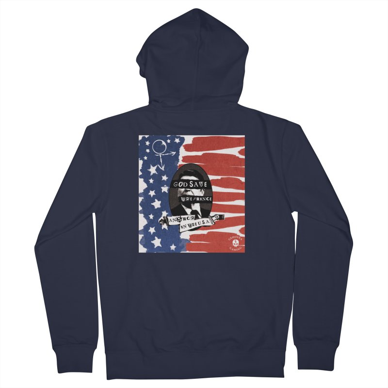Anarch in the U.S.A. Men's French Terry Zip-Up Hoody by GehennaGaming's Artist Shop
