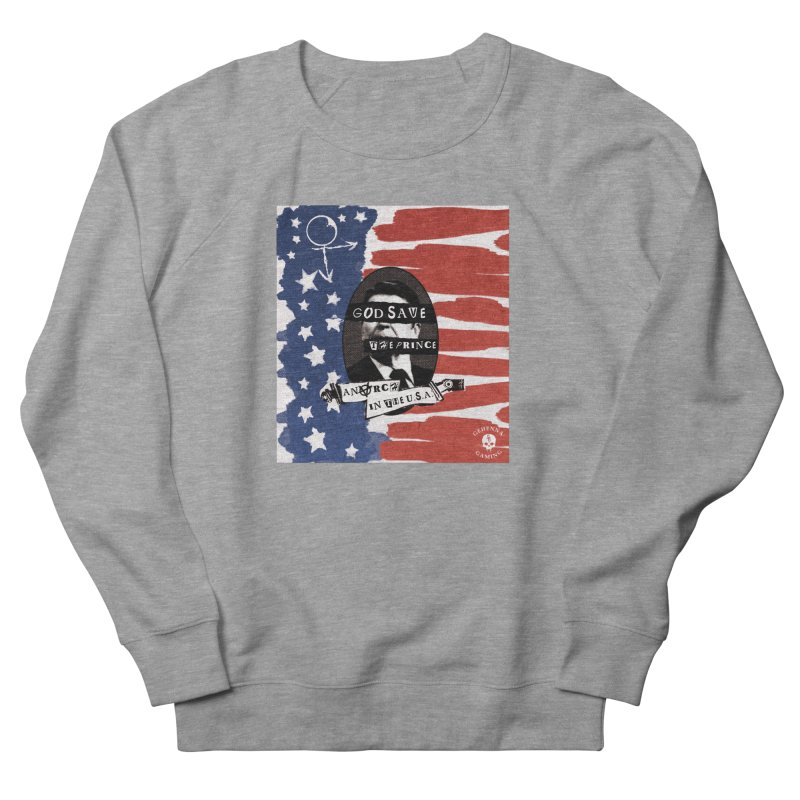 Anarch in the U.S.A. Men's French Terry Sweatshirt by GehennaGaming's Artist Shop