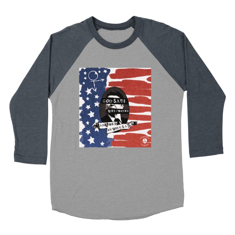 Anarch in the U.S.A. Men's Baseball Triblend Longsleeve T-Shirt by GehennaGaming's Artist Shop