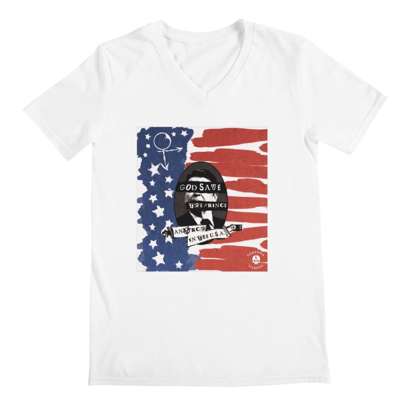 Anarch in the U.S.A. Men's V-Neck by The Gehenna Gaming Shop