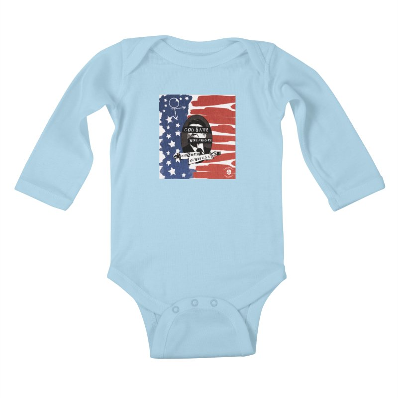 Anarch in the U.S.A. Kids Baby Longsleeve Bodysuit by The Gehenna Gaming Shop