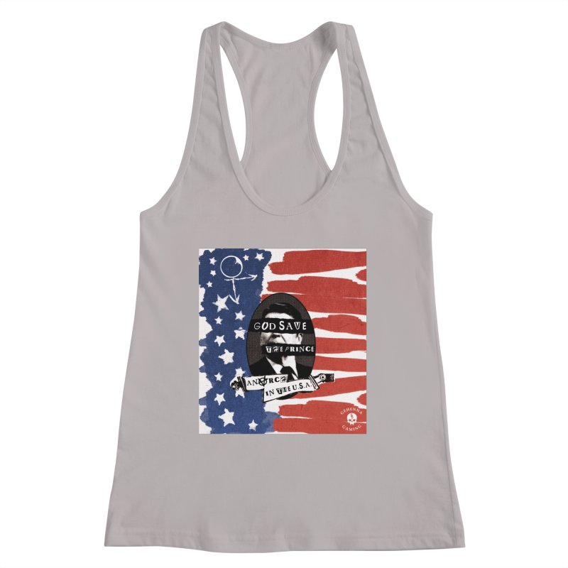 Anarch in the U.S.A. Women's Racerback Tank by The Gehenna Gaming Shop