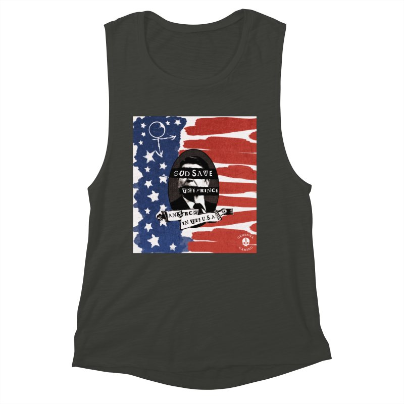 Anarch in the U.S.A. Women's Muscle Tank by The Gehenna Gaming Shop