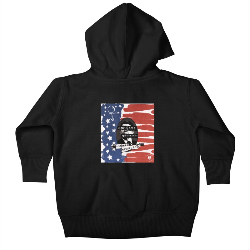 Anarch in the U.S.A. Kids Baby Zip-Up Hoody by The Gehenna Gaming Shop