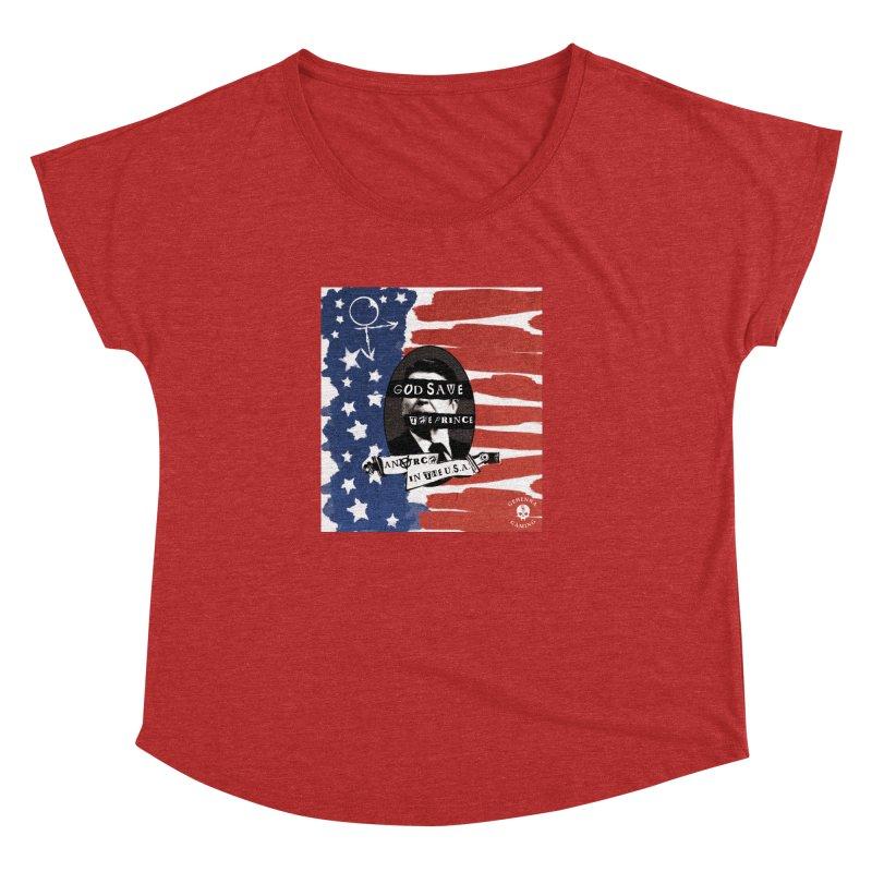 Anarch in the U.S.A. Women's Dolman Scoop Neck by GehennaGaming's Artist Shop