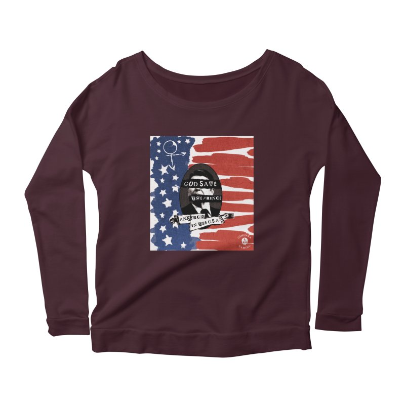 Anarch in the U.S.A. Women's Scoop Neck Longsleeve T-Shirt by GehennaGaming's Artist Shop